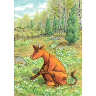 Card Mamma Moo, meadow