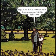Magnet Jan Stenmark 'Blommor & bin'