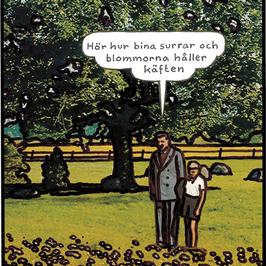 Magneetti Jan Stenmark 'Blommor & bin'