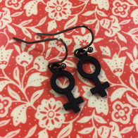Earrings Venus black